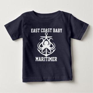 Poulpe d'ancre de Maritimer de bébé de Côte Est T-shirt Pour Bébé