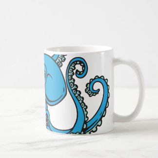 Poulpe de bleu d'océan mug