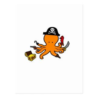Poulpe de pirate carte postale