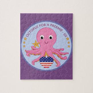 Poulpe de puzzle de logo pour un Preemie USA