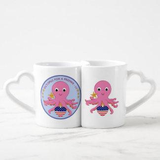 Poulpe figé de tasse de café d'emboîtement pour un