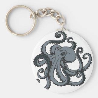 Poulpe gris porte-clés