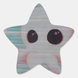 Poulpe mignon sticker étoile
