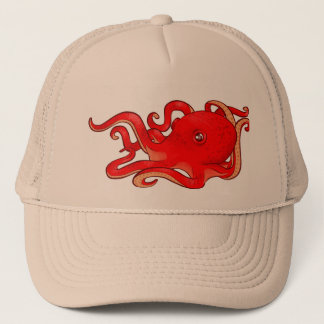 Poulpe rouge casquette