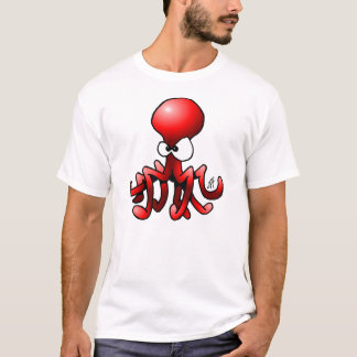 Poulpe rouge t-shirt