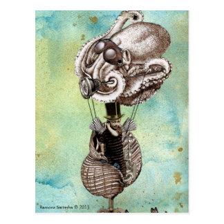 Poulpe Seacraft de Steampunk Carte Postale