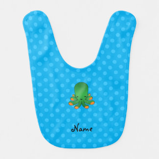 Poulpe vert de pois bleu bavoirs de bébé