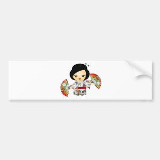 Poupée avec Kimono Autocollant Pour Voiture