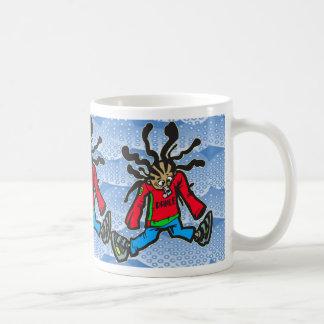 Poupée de danse de rue tasse à café