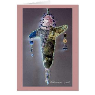 Poupée de déesse carte de vœux