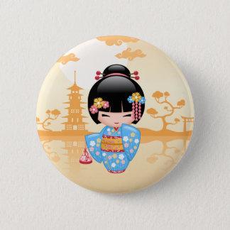 Poupée de Maiko Kokeshi - fille de geisha Badge