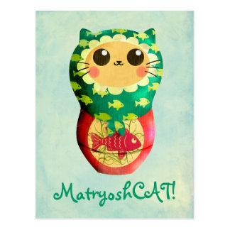 Poupée de Matryoshka de chat Carte Postale