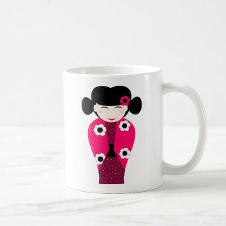 Poupée Kokeshi souriante personnalisable Mug