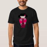 Poupée Kokeshi souriante personnalisable T-shirts