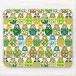 poupée russe vert tapis de souris