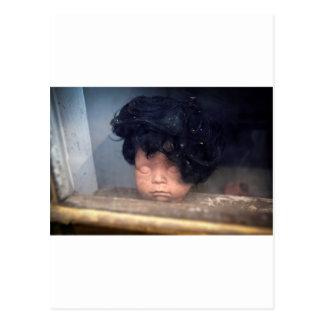 Poupée vintage de mauvais jour de cheveux dans la cartes postales