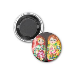 Poupées colorées de Matryoshka Magnet Carré 2,50 Cm