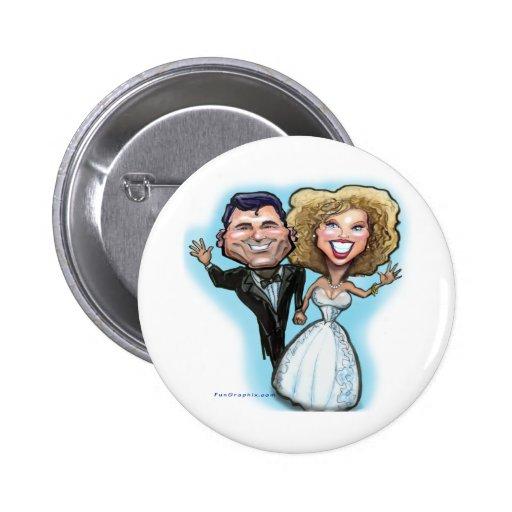 Poupées de gâteau de mariage badge