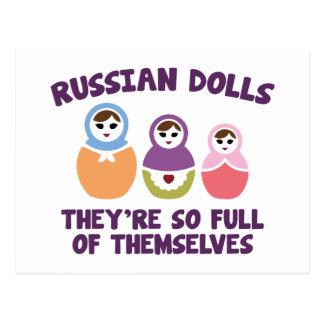 Poupées russes. Elles sont si pleines Carte Postale