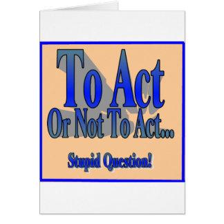 Pour agir ou pas carte de vœux