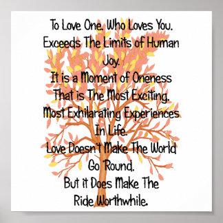 Pour aimer un qui vous aime---Affiche Poster