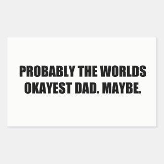 Pour : Bien un papa Sticker Rectangulaire