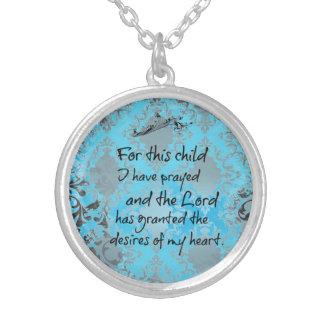 Pour cet enfant j'ai prié le vers de bible collier