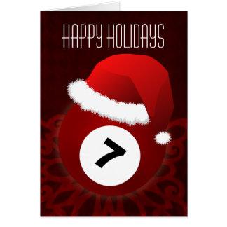 pour des cartes de Noël de joueur de billard