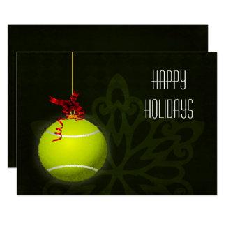 pour des cartes de Noël de joueur de tennis