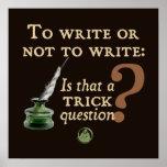 Pour écrire ou ne pas écrire posters
