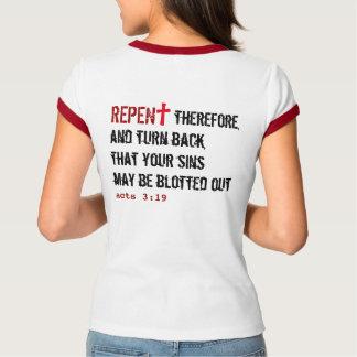 pour ELLE (adulte) : REPENTISSEZ-VOUS + Agit le T-shirt