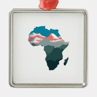 POUR LA GRANDE AFRIQUE ORNEMENT CARRÉ ARGENTÉ