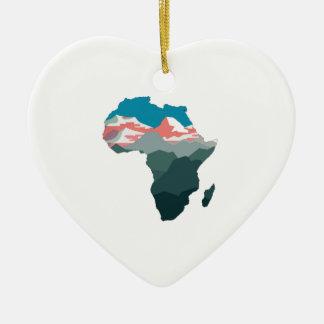 POUR LA GRANDE AFRIQUE ORNEMENT CŒUR EN CÉRAMIQUE