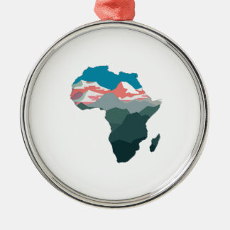 POUR LA GRANDE AFRIQUE ORNEMENT ROND ARGENTÉ