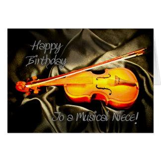 Pour la nièce, une carte d'anniversaire musicale