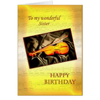 Pour la soeur, une carte d'anniversaire musicale