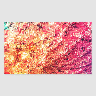 Pour l'amour de couleur - kaléidoscope sticker rectangulaire