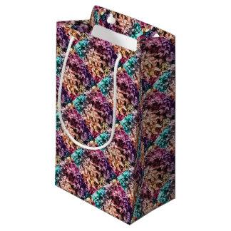 Pour l'amour de donner - couleur multi florale petit sac cadeau