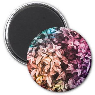 Pour l'amour de donner - floral multi magnet rond 8 cm