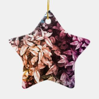 Pour l'amour de donner - floral multi ornement étoile en céramique