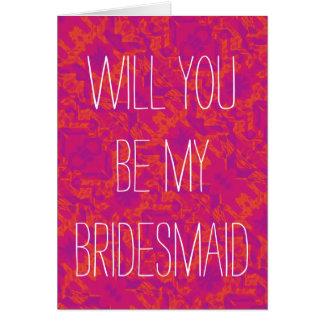 Pour l'amour des mariages - soyez ma demoiselle carte de vœux