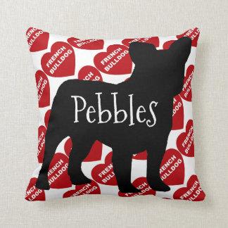 Pour l'amour d'un chien de bouledogue français oreillers