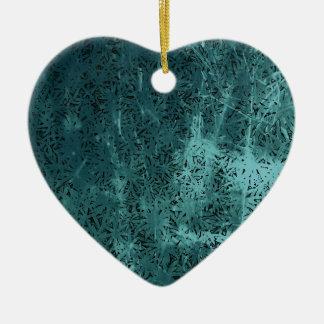 Pour l'amour - Geo bleu Ornement Cœur En Céramique