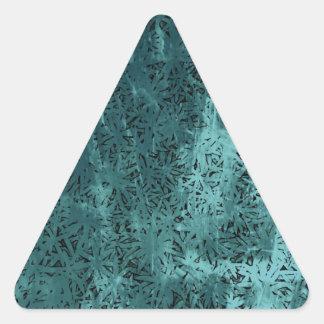 Pour l'amour - Geo bleu Sticker Triangulaire