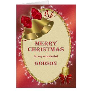 Pour le filleul, carte de Noël traditionnelle