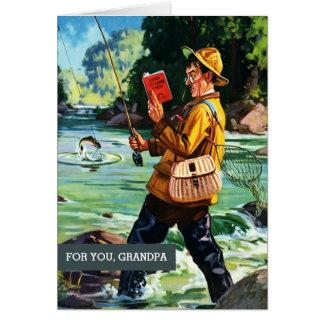 Pour le grand-papa la fête des pères. Scène Carte De Vœux