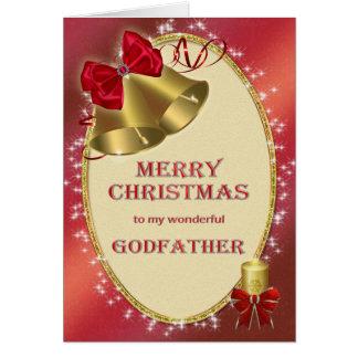 Pour le parrain, carte de Noël traditionnelle