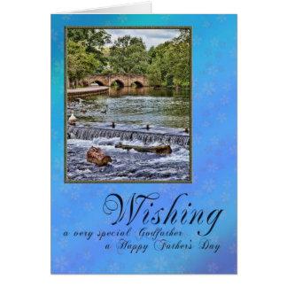 Pour le parrain la fête des pères carte de vœux