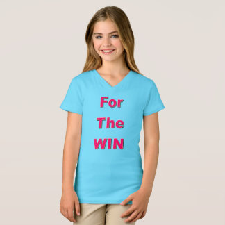 Pour le T-shirt de filles de victoire