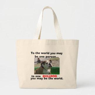 Pour les amants anglais de bouledogue sac en toile